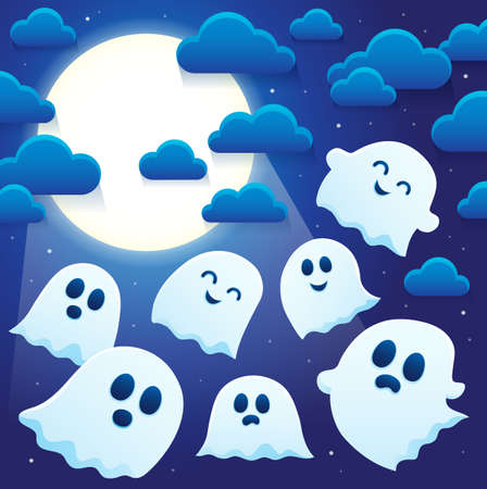 Ghost thematics image 6 - eps10 vector illustration.