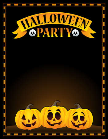 Halloween party sign image 1.