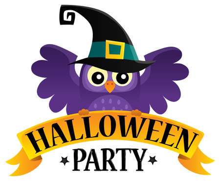 Halloween party sign theme image 2.