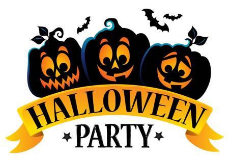 Halloween-het themabeeld 1 van het partijteken.
