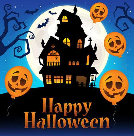 Happy Halloween sign thematic image 7. Illustration