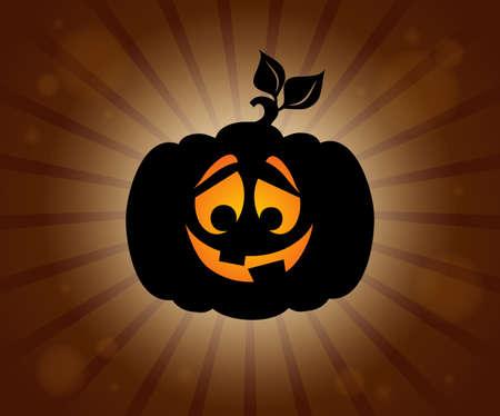 Halloween pumpkin silhouette. Illustration