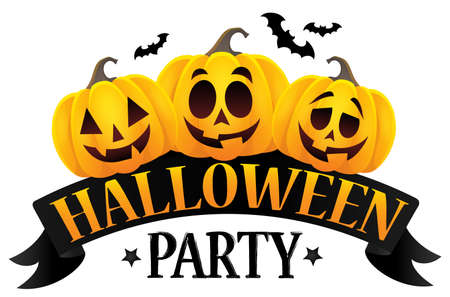 Halloween party sign theme image 6.