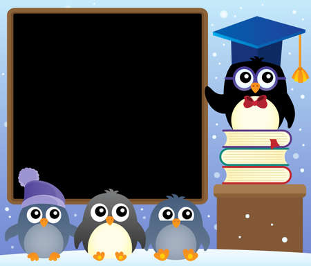 School penguins theme image 2 - eps10 vector illustration.