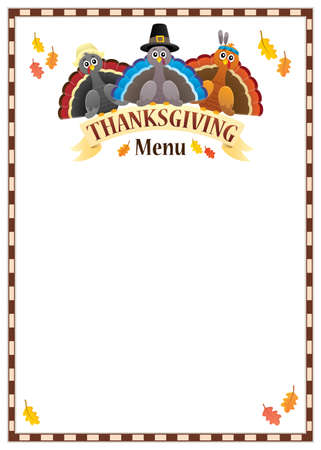 Thanksgiving menu theme - eps10 vector illustration.