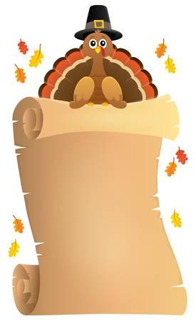 Thanksgiving theme parchment - eps10 vector illustration.