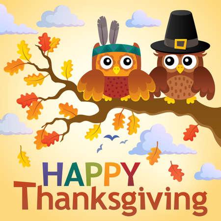 Happy Thanksgiving theme - eps10 vector illustration.