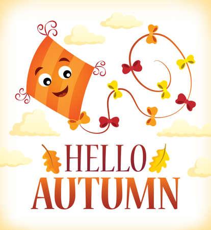 Hello autumn theme - eps10 vector illustration. Illustration