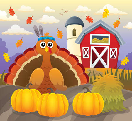 Thanksgiving turkey topic - eps10 vector illustration.