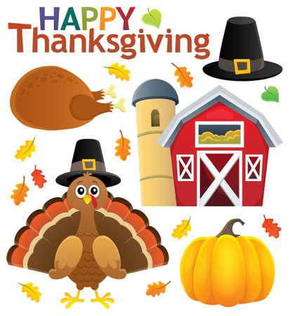 Thanksgiving theme collection - eps10 vector illustration. Illustration