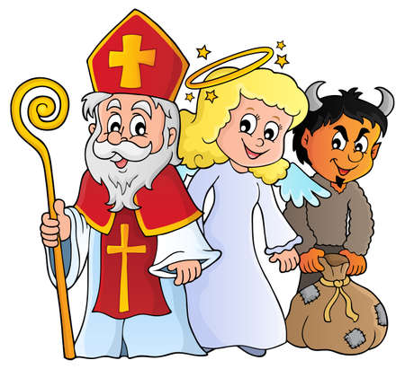 Saint Nicholas Day theme 1 - eps10 vector illustration. Zdjęcie Seryjne - 87212110