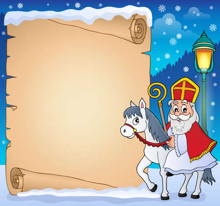 Parchment with Sinterklaas theme 4 - eps10 vector illustration.