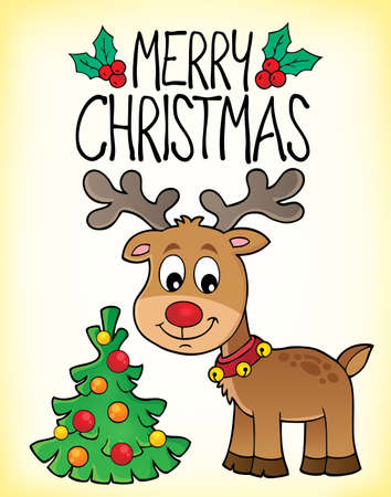 Merry Christmas topic image 3 - eps10 vector illustration. Illustration