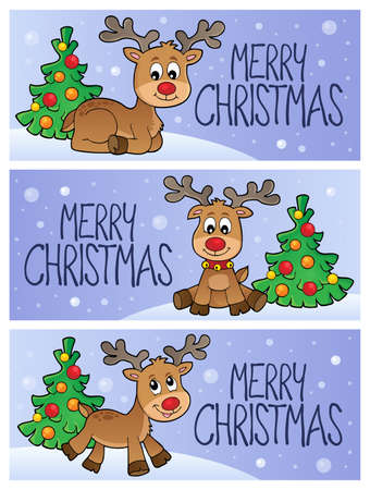 Merry Christmas topic banners 3 - eps10 vector illustration.