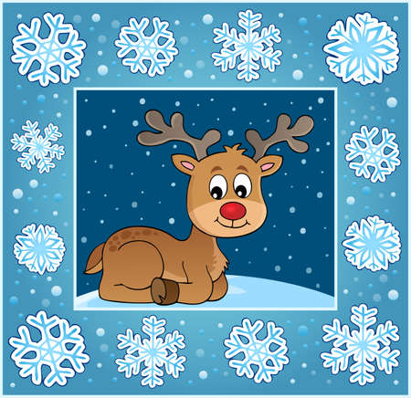 Christmas ornamental greeting card 2 - eps10 vector illustration.