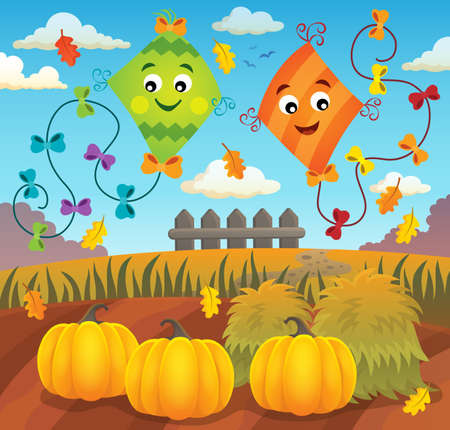 Autumn topic image 1 - eps10 vector illustration.