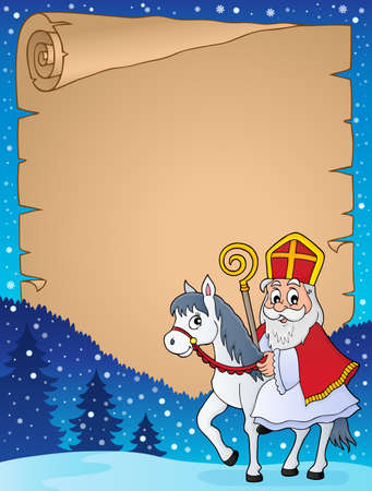 Parchment with Sinterklaas theme 3 - eps10 vector illustration.