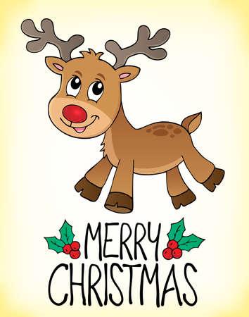 Merry Christmas topic image 1 - eps10 vector illustration. Illustration