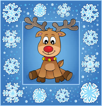 Christmas ornamental greeting card 1 - eps10 vector illustration.