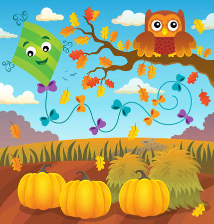 Autumn topic image 2 - eps10 vector illustration. Illustration