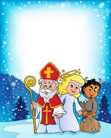 Saint Nicholas Day theme 3 - eps10 vector illustration. Illustration