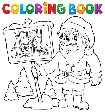 Coloring book Santa Claus thematics