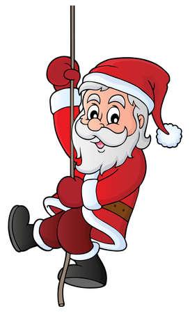 Climbing Santa Claus theme image