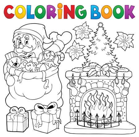 Libro De Colorear Temática De Santa Claus Para Colorear Libro ...
