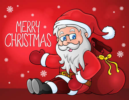 Merry Christmas thematics image Illustration