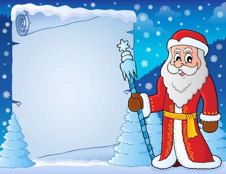 Father Frost theme parchment.
