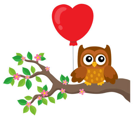 Valentine owl topic image 5 - eps10 vector illustration. Illustration