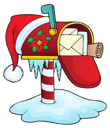 Christmas mailbox theme image