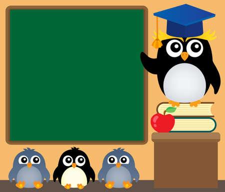 School penguins theme image