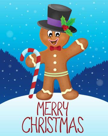 Merry Christmas subject image Stock Illustratie