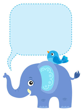 Elephant with copyspace theme