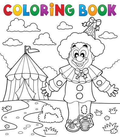 Coloring book clown thematics