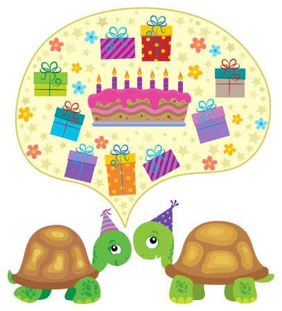 Party turtles theme image Illustration