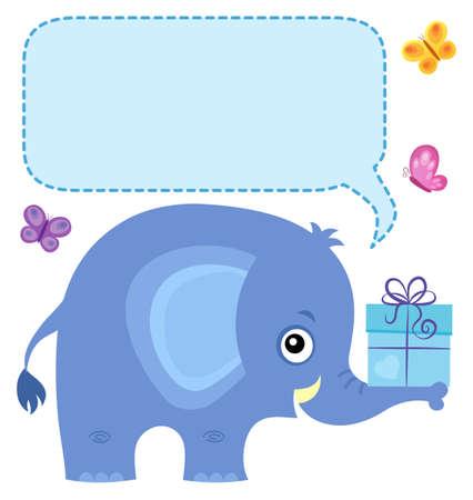 Elephant with copyspace theme 4 - eps10 vector illustration. Ilustração