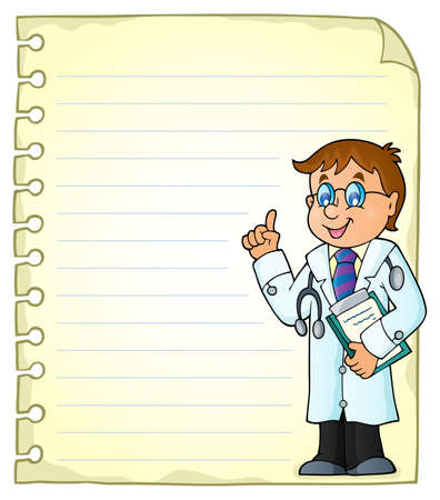 Notepad page with doctor theme 2 - eps10 vector illustration.