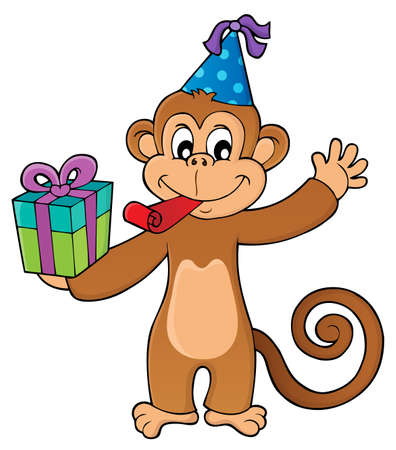 Party monkey theme   vector illustration.