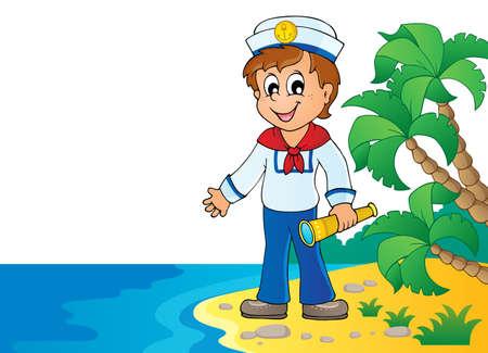 Image with sailor theme  vector illustration. Illustration