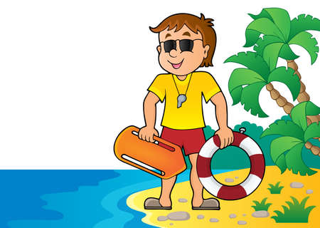 Life guard theme image 4 - eps10 vector illustration.