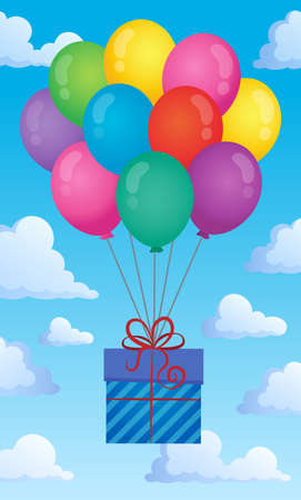 Balloons with gift theme image