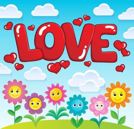 Word love theme image