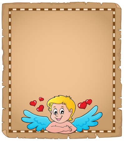 Cupid topic parchment