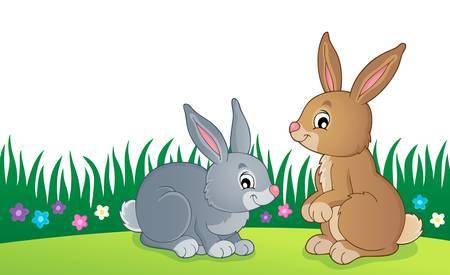 Rabbit topic image vector illustration. Illustration