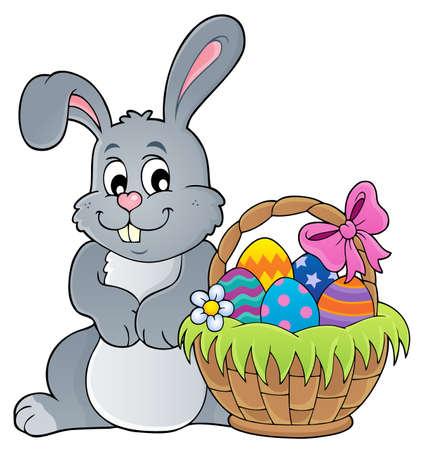 Easter rabbit thematic vector illustration. Illustration