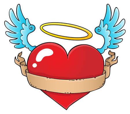 Valentine heart topic image vector illustration. Illustration