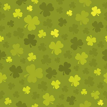 Three leaf clover seamless background  - vector illustration.