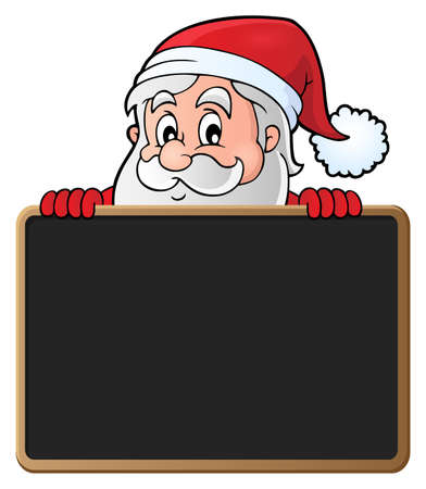Santa Claus with blackboard theme - vector illustration.